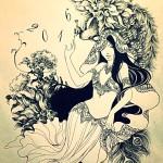 明けましておめでとうございます♪♪&麻の葉さん年賀状絵♪♪