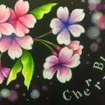 3/29 岡山南方ナポリさんにて、chalk artレッスン♪♪