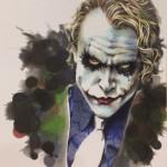 似顔絵見本にジョーカーをペンで描きました♪♪