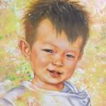 チョークアートにて、イケメン男の子をお描きいたしました♪♪