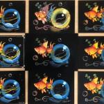7月14日 チョークアート教室開催『金魚と水風船』