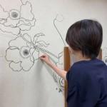 綺麗な植物デザイン 内装壁絵